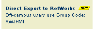 RefWorks Export from Library Catalog