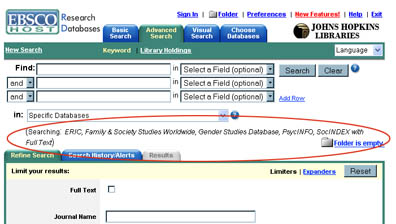 Metasearching with EBSCO
