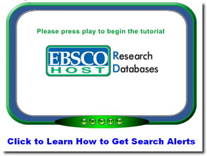 EBSCOhost Search Alerts Tutorial Start