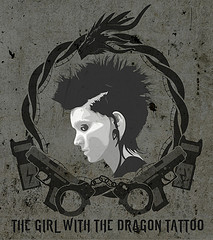 The girl with the dragon tattoo art work