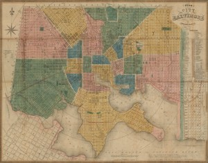 Plan of the City of Baltimore, compiled from actual survey, 1845