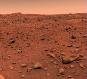 The first color image of the Martian surface was taken by Viking Lander 1 after it touched down in July 1976. Credit: NASA/JPL