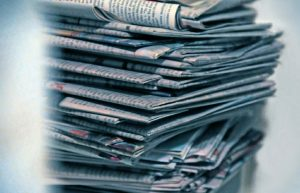 pile of old newspapers