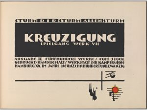 Kreuzigung Title page. Resource: text. Genre: woodcuts. Date issued: 1920 - 1921.