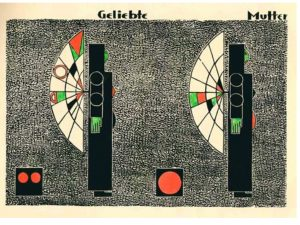 Geliebte Mutter. Resource: still image. Genre: woodcuts. Date issued 1920 - 1921.