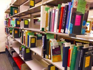 Milton S. Eisenhower Library course reserves shelves