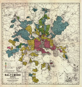 "The Baltimore ""Redlining"" Map: Ranking Neighborhoods – The Sheridan ..."