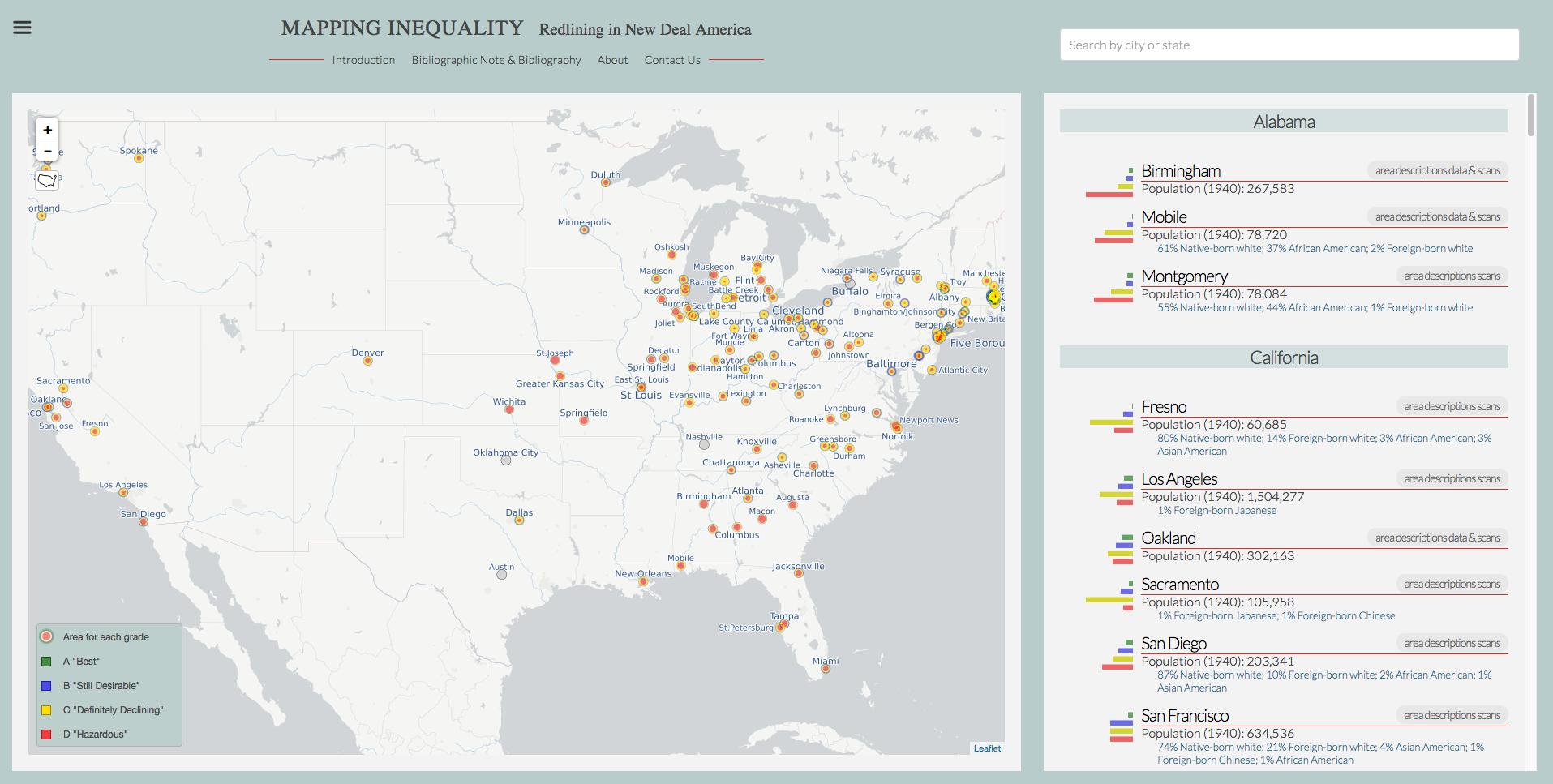 """The Baltimore """"Redlining"""" Map: Ranking Neighborhoods – The Sheridan ..."""
