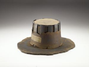 AN1836 p.178.21 John Bradshaw's hat, 17th century. Image © Ashmolean Museum, University of Oxford