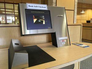 Eisenhower library book deactivation station