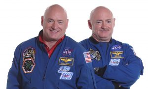 Photo of NASA astronauts and twin brothers Scott Kelly and Mark Kelly.